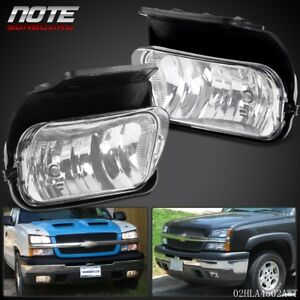Clear Fog Lights Driving Bumper Lamp Bulbs Chevy For 03 06 Silverado Avalanche