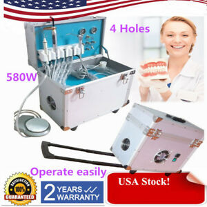 Dental Portable Delivery Unit Rolling Case Compressor Scaler curing Light