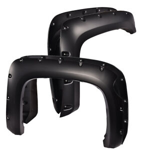 Pocket Riveted Wheel Fender Flares Bolt On For 2007 13 Chevy Silverado 1500 69