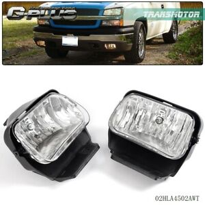 2003 2006 Chevy Silverado Avalanche Bumper Fog Lights Lamps Left right 04 05 06