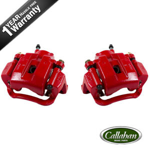 Rear Red Brake Calipers Pair For 2007 2008 2009 2010 2015 Sequoia Tundra