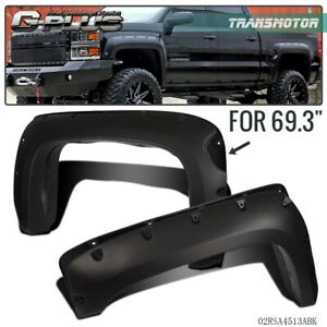 Pocket Style Wheel Well Fender Flare For 07 13 Chevy Silverado 1500 69 Shor Bed