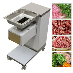 3mm Stainless Commercial Meat Slicer Meat Cutting Machine Cutter 110v 500kg hour
