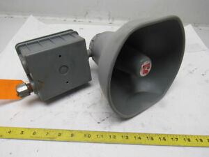 Federal Signal Selectone Model 300 120v Speaker Audible Tone Safety Signal