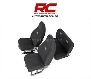 1991 1995 Jeep Yj Wrangler Rough Country Neoprene Seat Covers Black 91009