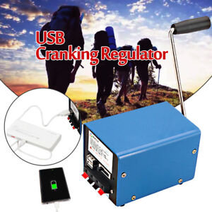 New Portable Hand Crank Emergency Usb Charger Generator Camping Outdoor Survival