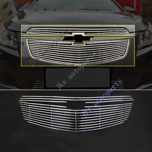 2x Metal Mesh Front Bumper Center Grille K Modified For Chevrolet Cruze 2011 14