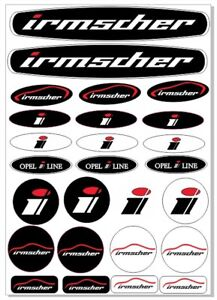 Irmscher Opel Decals Sticker 1 Set 26 Piece