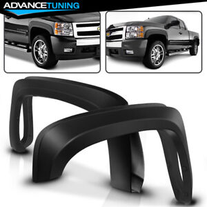 Fits 07 13 Silverado 1500 Short Bed Oe Style Fender Flares Trim Pp Injection