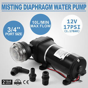 New Portable 17psi 12v Diaphragm Water Misting Pump High Pressure Marine Boat