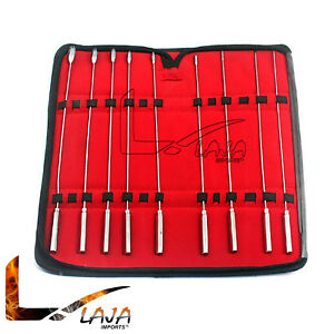 Bakes Rosebud Urethral Sounds Dilator 9 Pcs Set Surgical Stainless 5mm 13mm