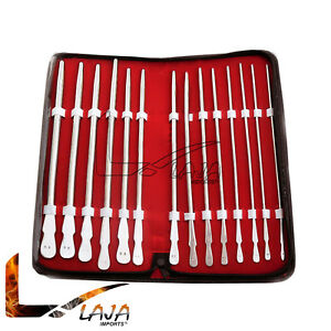 14 Pieces Set Of Dittel Urethral Sounds Gynecology Surgical Stainless Steel