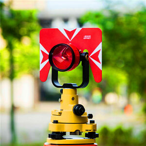 New Single Prism Set For Total Station Yellow Prism With Soft Bag