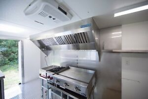 9 Food Truck Hood System With Exhaust Fan