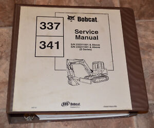 Bobcat Service Repair Manual 337 341 Compact Excavator 6901080