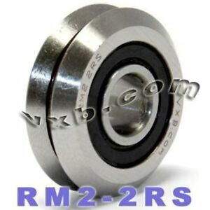 Deep Groove Ball Bearings Quality Set Of Rm2 2rs 3 8 V groove Guide Sealed W2x