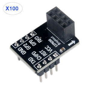 100 X Esp8266 Esp 01 Breakout Breadboard Adapter Pcb For Serial Wifi Transceiver