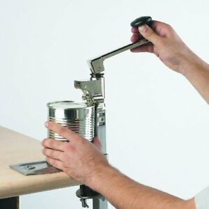 Commercial Can Opener Angled Bar Stainless Steel Table Mount W 19 Bar Length