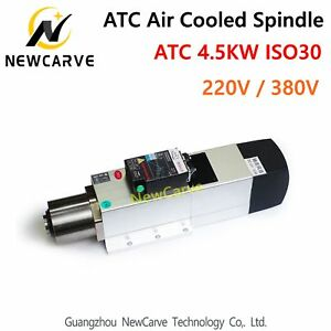 4 5kw Atc Air Cooled Spindle Motor Iso30 220v 380v Automatic Tool Change