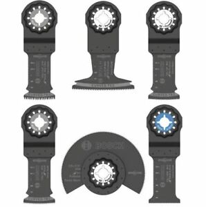 Oscillating Tool Blade 6 pcs Multi tool Accessory Black Cutting Saw Blades Set