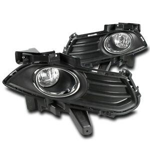 2013 2016 Ford Fusion Mondeo Front Bumper Chrome Driving Fog Light Lamp W bezels