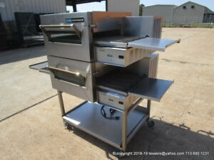 Lincoln Impinger Double Stack Conveyor Pizza Oven 1116 Gas On Casters