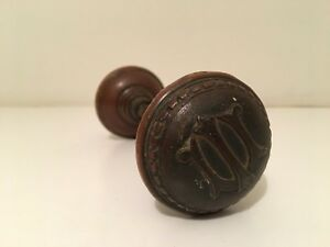 Antique University Of Illinois Illini Bronze Door Knob Uofi Champaign Chief Vtg