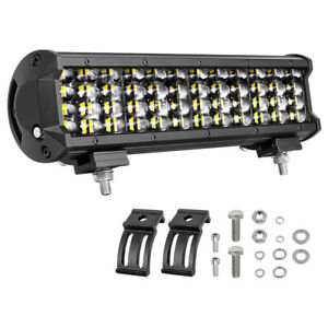 Quad Row 12 in 240w Cree Led Work Light Bar Combo Offroad Driving Suv Truck Boat