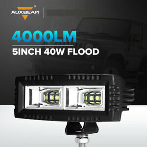 Auxbeam 5 Inch 40w Cree Flood Beam Led Work Light Bar Offroad Combo Ford Driving