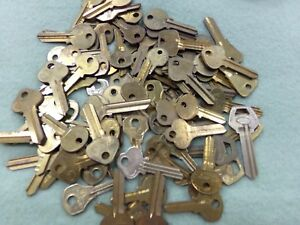 Mixed Lot Of 92 Taylor Curtis Star Lockwood Brass Uncut Blank Keys Locksmith