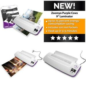 Purple Cows Hot And Cold 9 Laminator Warms Up In Just 3 5 Minutes Include