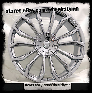 24 X9 Inch Chrome Vct V78 Wheels Rims Fits Dodge Charger Challenger 5x115 15