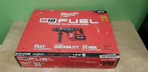 Milwaukee 18 volt Fuel 2717 21hd Cordless 1 9 16 In Sds max Rotary Hammer Set
