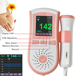 Us Pocket Fetal Doppler Prenatal Baby Heart Beat Curve Fetal Monitor 2mhz Probe