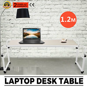 Adjustable Laptop Computertrolley Mobile Office Desk Hospital Aid Tray