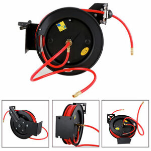 300 Psi Auto Retractable Air Hose Reel Compressor Recovery Rolling Tool 3 8 x50