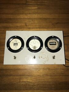 Ac Power Line Monitor With Hour Meter Frequency Voltage