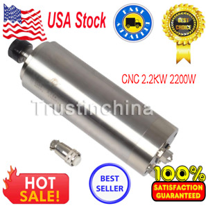 Cnc 2 2kw Milling Spindle Motor Water Cooled Engraver 80mm Er20 Router In Usa