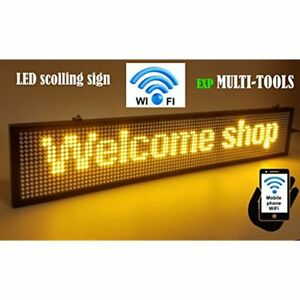 Electronic White Boards Led Display Yellow Color With Wifi Connection Scrolling