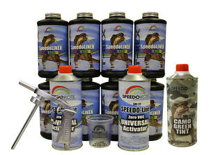 T Rex Camo Green Spray On Urethane Truck Bed Liner 8 Quart Kit Smr 1000cg K8