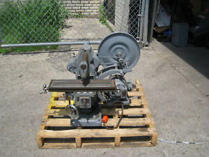 Atlas Mf Mill Horizontal Milling Machine Used Free Shipping