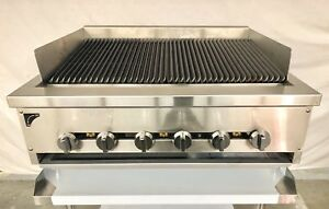 36 Gas Char Broiler Heavy Duty Charcoal Grill 3 Natural Or Propane Radiant