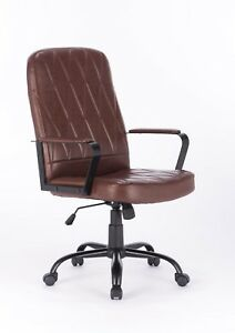 Vinmax Pu Leather Ergonomic Adjustable Swivel Computer Desk Office Chair