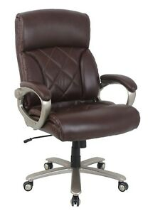 Vinmax Big And Tall Thick Padded High Back Bonded Leather Executive Chair br