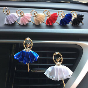 Lovely Car Perfume Metal Ballerina Styling Air Conditioner Outlet Perfume Clip