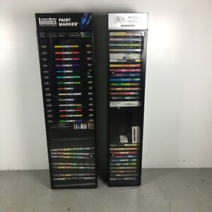 Liquitex Windsor Newton Paint Marker Large Locking Retail Display Cases