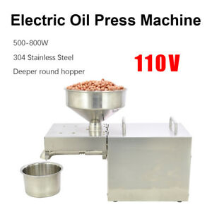 110v Stainless Steel Automatic Oil Press Extraction Machine 500 800w