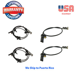 Set 4 Abs Speed Sensor Front Rear Fit 2006 2010 Jeep Commander Grand Cherokee