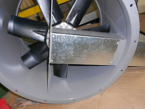24 Dia Tube Axial Exhaust Fan For Paint Spray Booth three Phase