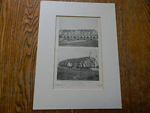 The Riding Hall Roof Armory For Squadron C N G N Y Brooklyn Ny 1906 Lithograph